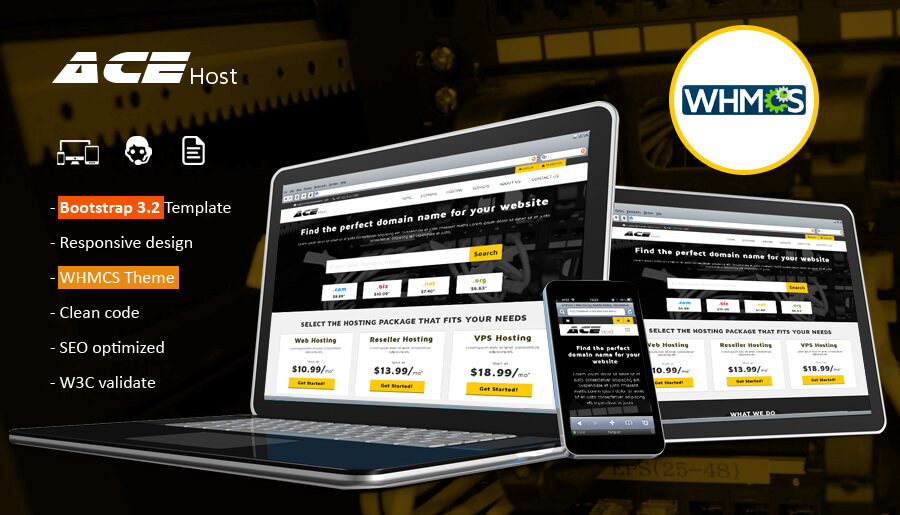 WHMCS - AceHost Responsive WHMCS6 Theme - themechilly | NulledTeam ...